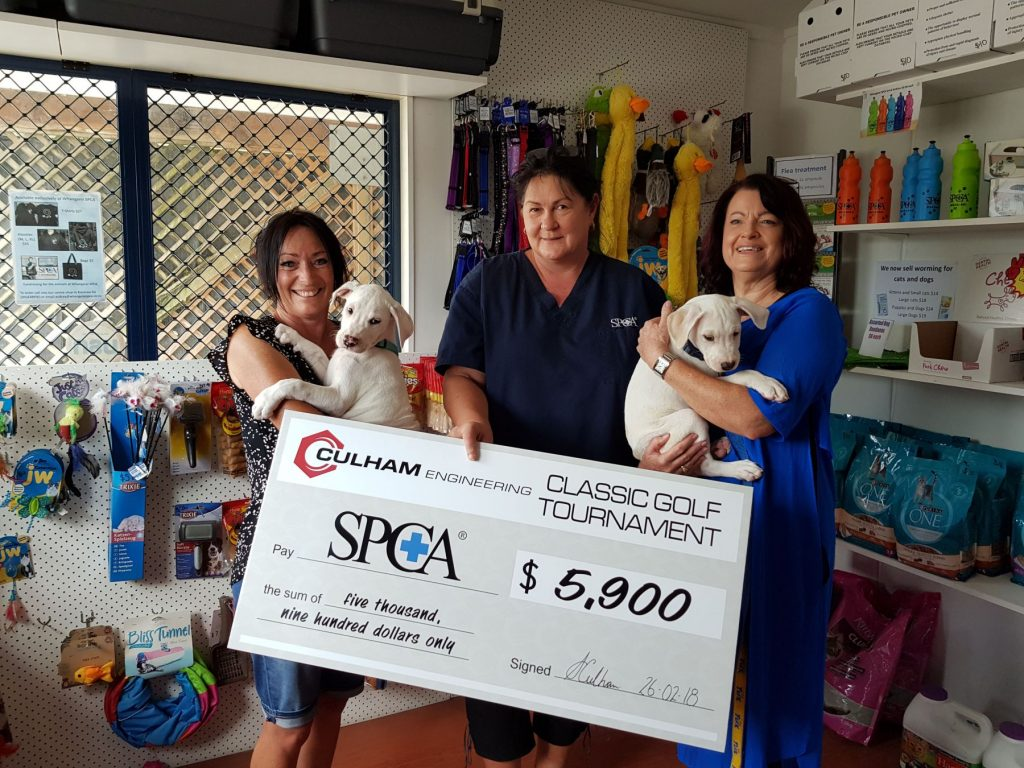 SPCA donation from Culham Classic Golf Tournament